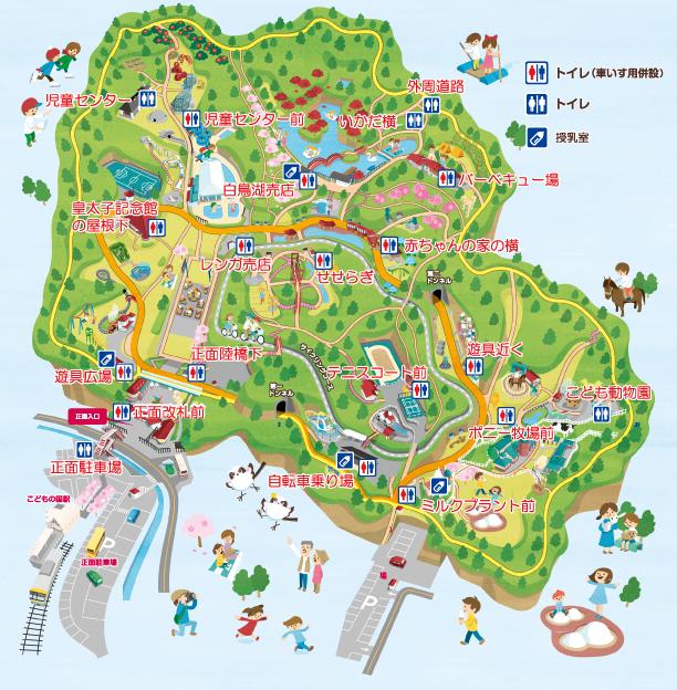 ズーラシア動物園 園内マップ